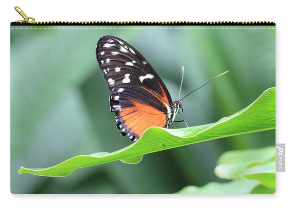 Monarch On Green Leaf Carry-all Pouch