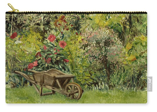 Monet's Garden Wheelbarrel Carry-all Pouch