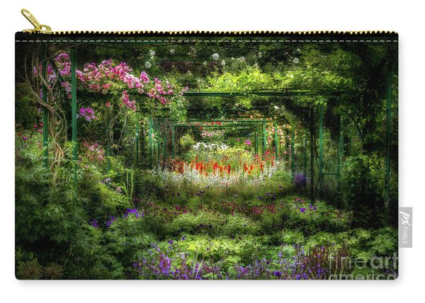 Monet's Lush Trellis Garden In Giverny, France Carry-all Pouch