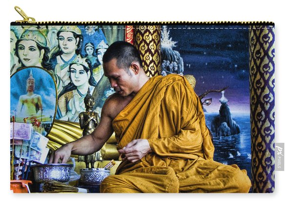 Monk At Big Buddha  Carry-all Pouch