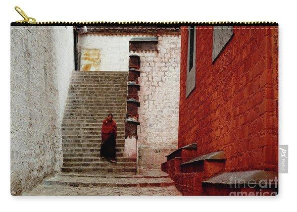 Monk In Tashilhunpo Monastery Shigatse Tibet Artmif.lv Carry-all Pouch