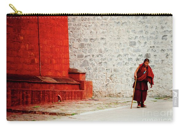 Monk In Tashilhunpo Monastery Shigatse Tibet Yantra.lv Carry-all Pouch