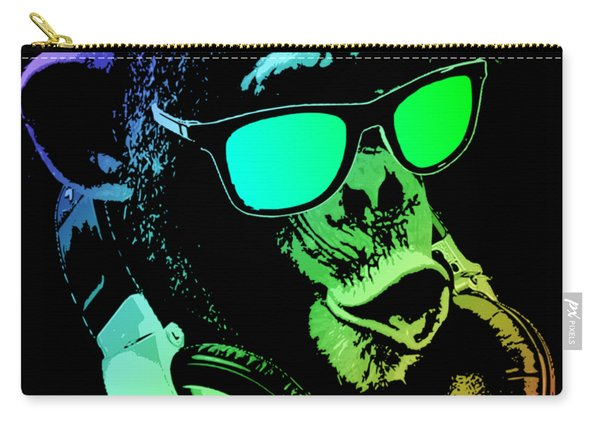 Monkey Dj Neon Light Carry-all Pouch