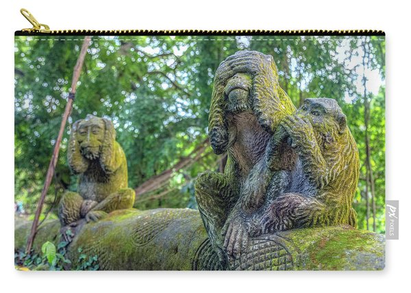 Monkey Forest Ubud - Bali Carry-all Pouch