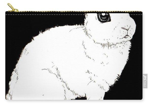 Monochrome Rabbit Carry-all Pouch