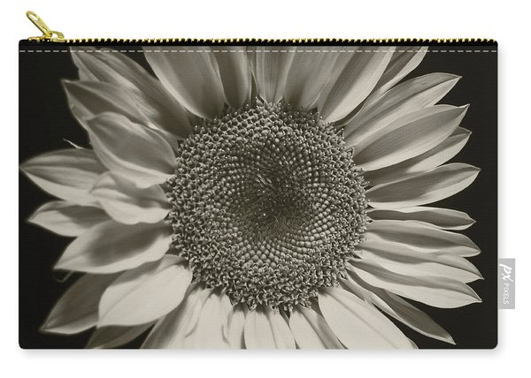 Monochrome Sunflower Carry-all Pouch