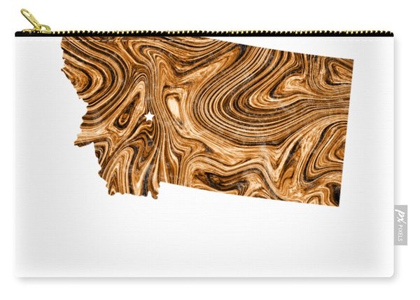 Montana Map Art Abstract In Brown Carry-all Pouch