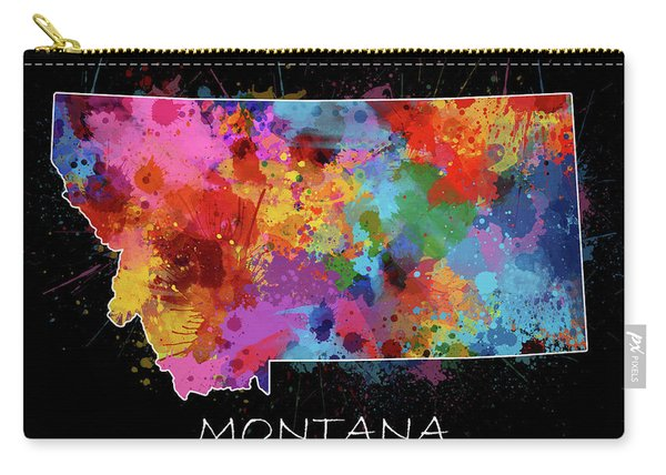 Montana Map Color Splatter 2 Carry-all Pouch