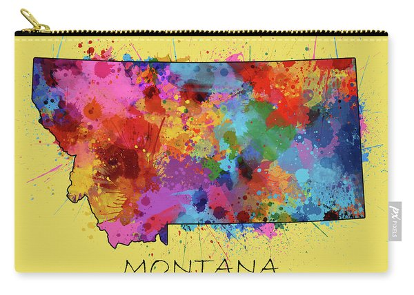 Montana Map Color Splatter 4 Carry-all Pouch