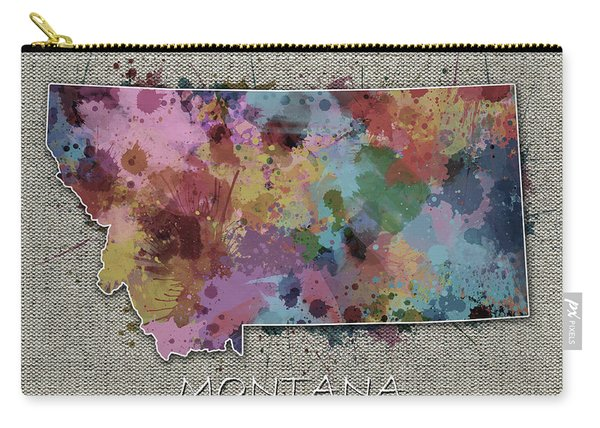 Montana Map Color Splatter 5 Carry-all Pouch