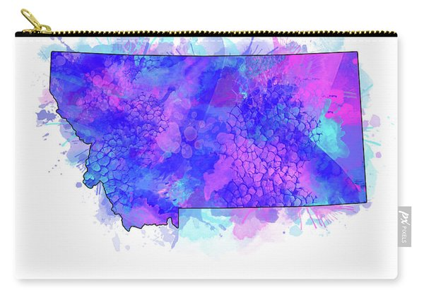Montana Map Watercolor 2 Carry-all Pouch