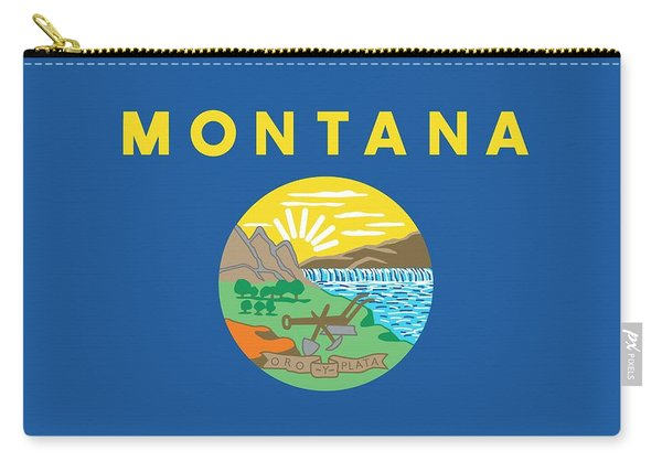 Montana State Flag Carry-all Pouch