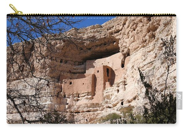 Carry-all Pouch featuring the photograph Montezuma Castle  by Christy Pooschke