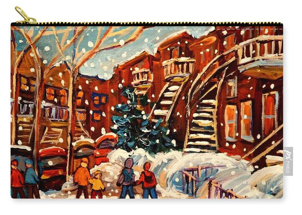 Montreal Street In Winter Carry-all Pouch
