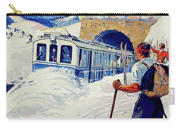 Montreux, Berner Oberland Railway, Switzerland, Winter, Ski, Sport Carry-all Pouch