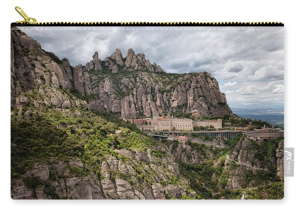 Montserrat Mountains And Monastery In Spain Carry-all Pouch