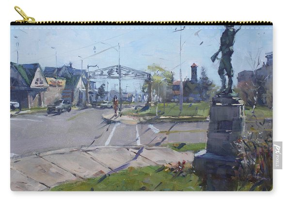 Monument At Pine Ave And Portage Rd Carry-all Pouch