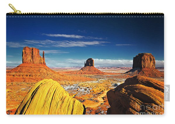 Carry-all Pouch featuring the photograph Monument Valley Mittens Utah Usa by Sam Antonio