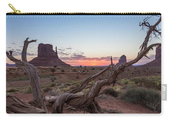 Monument Valley Sunrise With Wood  Carry-all Pouch