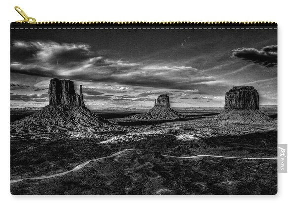 Monument Valley Views Bw Carry-all Pouch