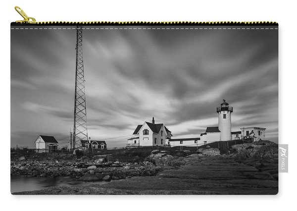 Moody Sky At Eastern Point Lighthouse Carry-all Pouch