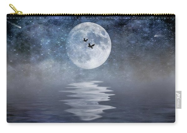 Moon And Sea Carry-all Pouch