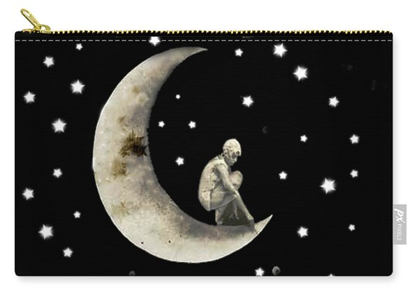 Moon And Stars T Shirt Design Carry-all Pouch