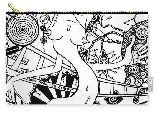 Moon Over Dog Street Carry-all Pouch
