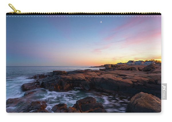 Moon Over Gloucester Sunset Carry-all Pouch