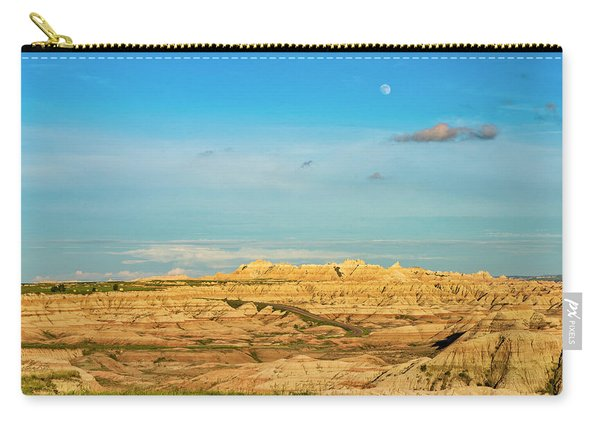 Moon Over The Badlands Carry-all Pouch