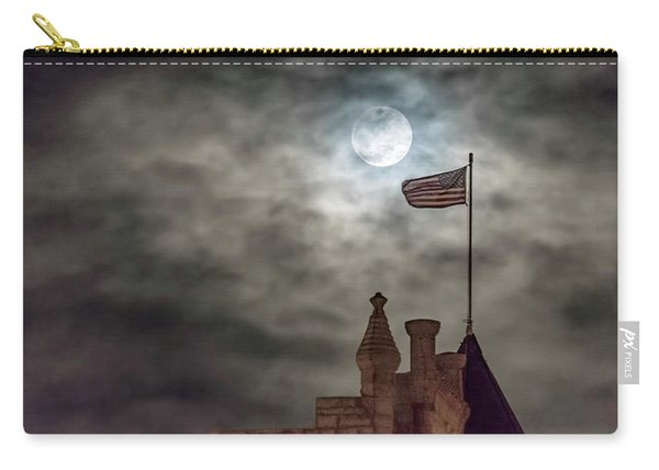 Carry-all Pouch featuring the photograph Moon Over The Bank by Rob Graham