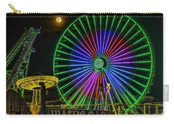 Moon Over The Ferris Wheel Carry-all Pouch