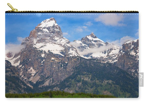 Moon Over The Tetons Carry-all Pouch