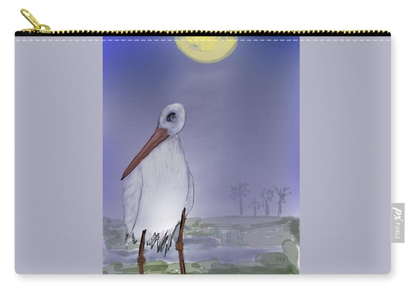 Moon Rise Becomes A Stork Carry-all Pouch