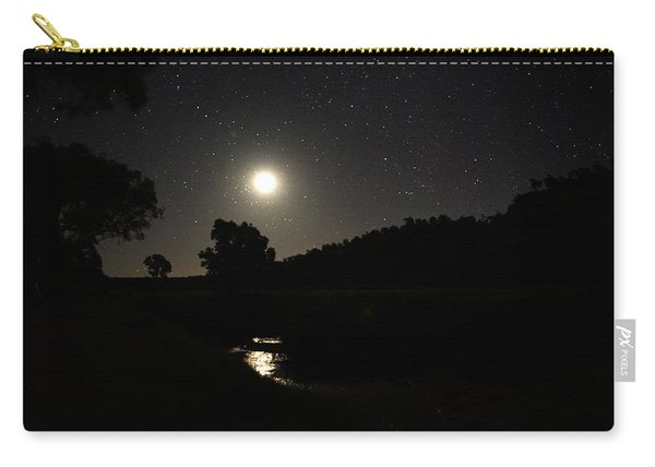 Moon Set Over Palm Valley 2 Carry-all Pouch