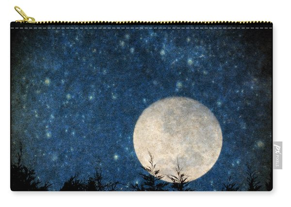 Moon, Tree And Stars Carry-all Pouch