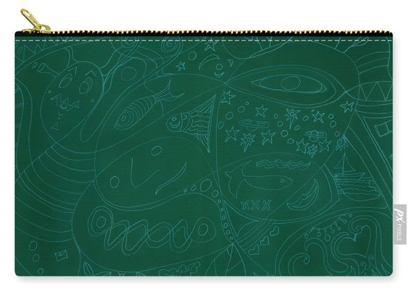 Moonfish Drawing Negative Green Chalk Carry-all Pouch