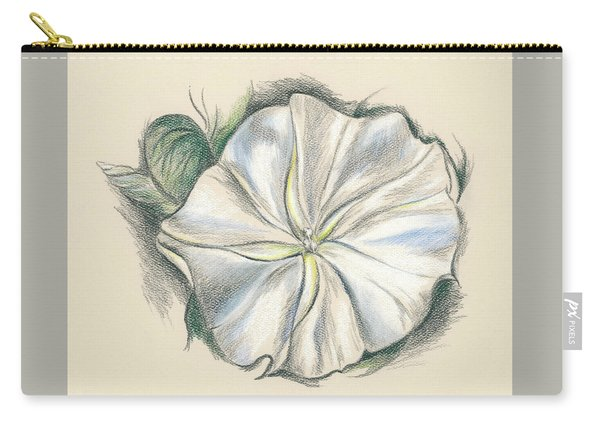 Moonflower Mixed Media Drawing Carry-all Pouch