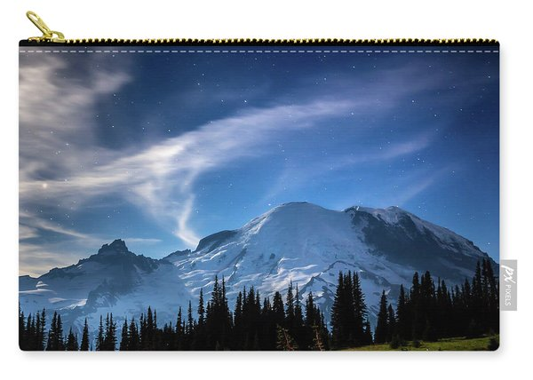 Moonlight On Mt Rainier Carry-all Pouch