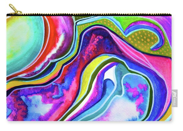 Moonlight On The Seaside Cliffs Carry-all Pouch