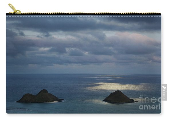 Moonlight Over Mokulua Islands Carry-all Pouch