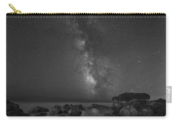 Moonlit Beach Bw Carry-all Pouch