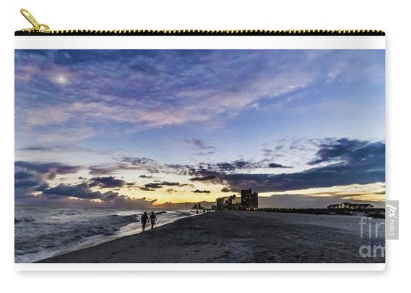 Moonlit Beach Sunset Seascape 0272b1 Carry-all Pouch
