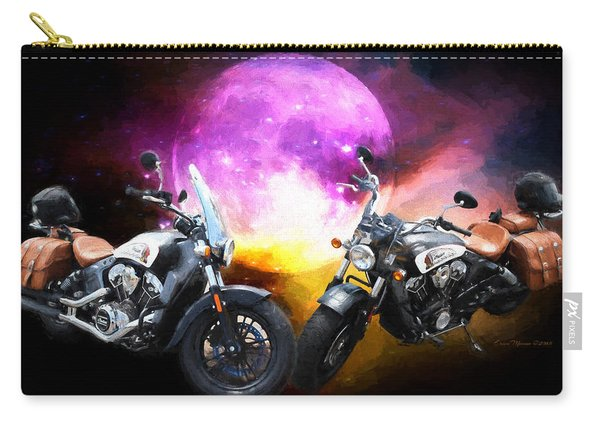 Moonlit Indian Motorcycle Carry-all Pouch
