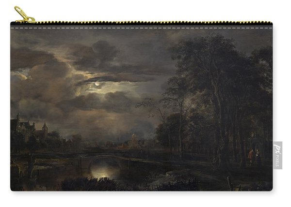 Moonlit Landscape With Bridge Carry-all Pouch