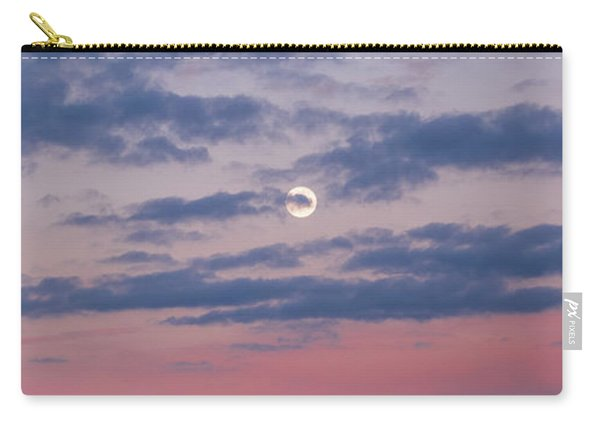 Moonrise In Pink Sky Carry-all Pouch