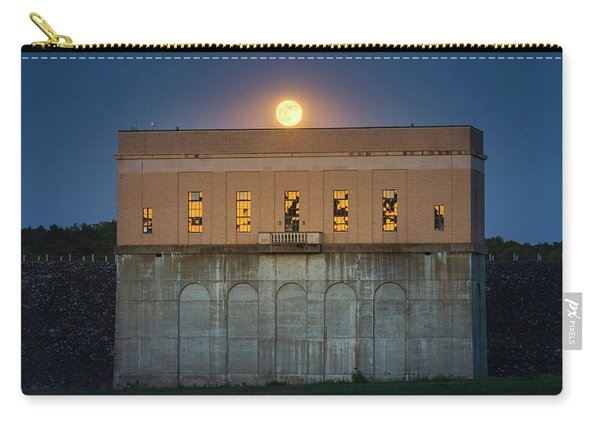 Moonrise Over Franklin Falls Dam Carry-all Pouch