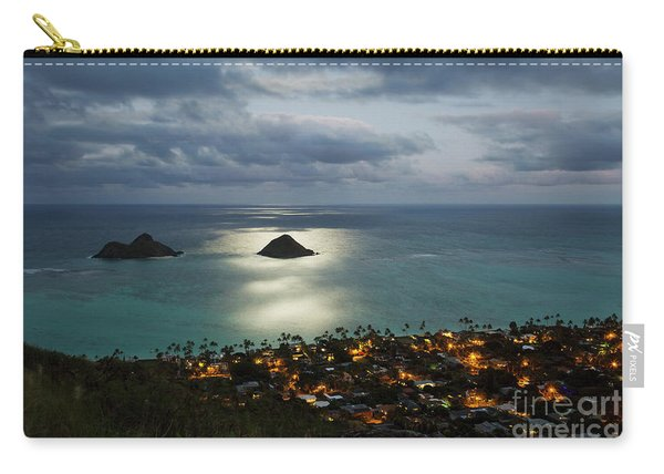 Moonrise Over Lanikai Carry-all Pouch