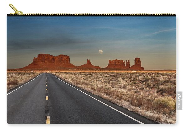Moonrise Over Monument Valley Carry-all Pouch