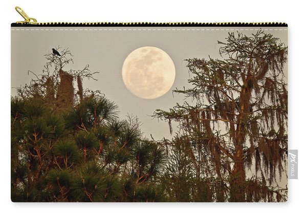 Moonrise Over Southern Pines Carry-all Pouch